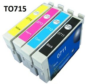 4 COMPATIBLE  INK CARTRIDGES-REPLACE EPSON T0715/TO715