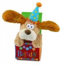"NEW Cuddle Barn ""Flappy Birthday"" Happy Dog 12"" Animated Song Plush"