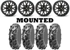 Kit 4 ITP Monster Mayhem 30x9-14/30x10-14 on ITP Hurricane Matte Black H700