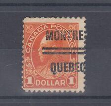 MONTREAL #4-122 $1.00 Admiral precancel Canada left end nice