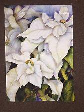 Decorative House Flag - White Flowers