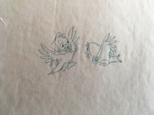 Lot of 2 Disney Cinderella animal Sketch Drawings Consumer Products - Birds Mice