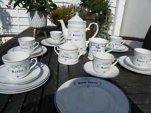 Kronester Porzellan Bavaria 20-teilig Kaffeeservice Set Landhaus
