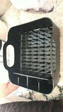 Black plastic dish drainer