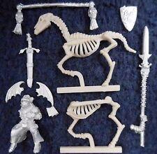 1997 morts-vivants wight standard porteur sur squelette monture warhammer citadel cavalerie gw