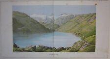 1872 LUCENDRO SEE cromolitografia Airolo Leventina Ticino Müller-Wegmann SAC