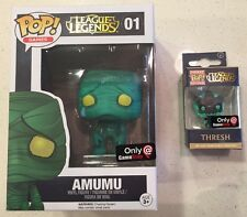 Funko POP League Of Legends 01 Amumu GameStop + Thresh Keychain Great Boxes