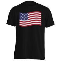 America USA Flag Travel The World Men's T-Shirt/Tank Top g301m