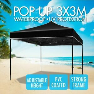 3x3m Pop Up Outdoor Marquee Wedding Folding Gazebos Tent Camping AU