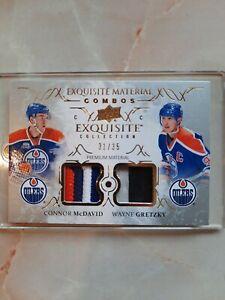 Connor Mcdavid Wayne Gretzky 2016-17 Exquisite Material Combos #35