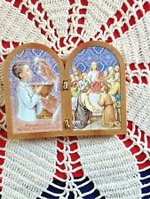"New Italian GOLD FOILED BOY"" 1st HOLY COMMUNION"" . STAND UP PLAQUE STUNNING"