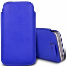 Blue Leather Mobile Phone Pouches/Sleeves