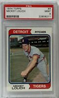 1974 Topps #9 Mickey Lolich PSA Grade Mint 9 Detroit Tigers