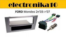 Marco Adaptador Montaje Radio 1DIN Ford mondeo 2003 a 2007 conexiones y antena
