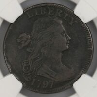 1797 Draped Bust 1C Rev Of 97 S-140 NGC Certified VF25 BN Early Copper