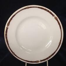 "RALPH LAUREN CHINA WEDGWOOD EQUESTRIAN SALAD PLATE 8 1/8"" YELLOW & BROWN BELT"