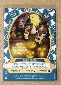 COUNTRY BEARS Halloween Party Card MNSSHP Disney Sorcerers Of The Magic Kingdom