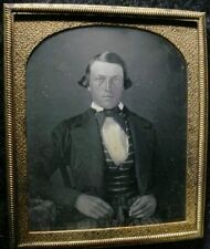 Daguerreotype  Handsome Man Great Dresser 1/6 Plate Excellent