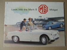 MG Midget mark 11 brochure.BMC cars brochure.MG cars brochure.