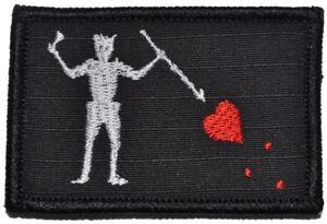 Edward Teach Blackbeard Pirate Flag - 2x3 Military/ Patch Hook Backing