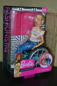 BRAND NEW BARBIE DOLL FASHIONISTAS #132 MADE TO MOVE BARBIE IN WHEELCHAIR