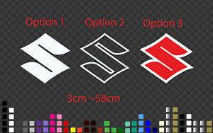 Suzuki Motorbike Sticker Decal Tank, Race fairing in many Colour, Sizes