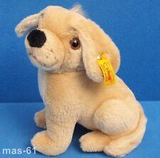 STEIFF HUND LUMPI 083440 STOFFTIER DOG 18 CM KNOPF & FAHNE PLÜSCH