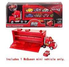 Mattel Disney Pixar Cars Mini Racers Mack Transporter Hauler Truck Playset