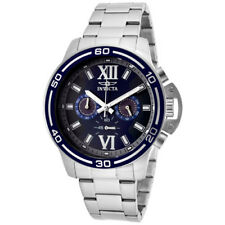 New Mens Invicta 15057 Specialty Chronograph Blue Dial Steel Bracelet Watch