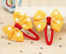 New TWO pcs Pet Dog Cat Hair Bow Clip Dog Party Festival Christmas Hair deco