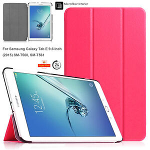 """Stand Smart Flip Case Cover For Samsung Galaxy Tablet E 9.6"""" (2015) T560 T561"""