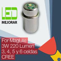 MagLite LED Conversión Actualizar Bombilla Para Linternas 3D/3C 4D/4C 5/6D Celda