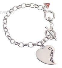 Guess Silver Heart Bracelet UBB306500 Valentines Day Gift Jewelry