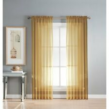 """1 Pcs. Sheer Voile Window Panel curtains DRAPE 63"""" ,84"""" ,95"""" (SCARF) MANY COLORS"""