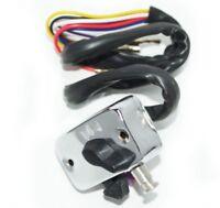 Lambretta LI SER 2 Alloy Polished Light Horn Dipper Switch Black Buttons CDN