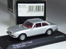 (KI-07-27) Minichamps 400112122 Peugeot 504 Coupé silber in 1:43 in OVP