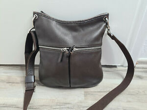 Longchamp Leder Handtasche Dunkelbraun