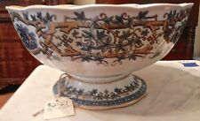 Furnivals  Centerpiece  Punch Bowl 1890  Ironstone Made in England