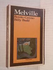 BENITO CERENO BILLY BUDD Herman Melville Ruggero Bainchi Garzanti Grandi libri