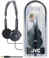 JVC Headphone HA-L50 BLACK Fold able Lightweight Stylish Stereo Headphones - New