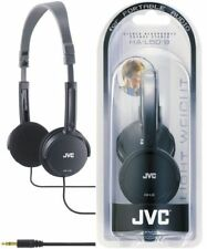 JVC Headphone HAL50B BLACK Fold able Lightweight Stylish Stereo Headphones - New