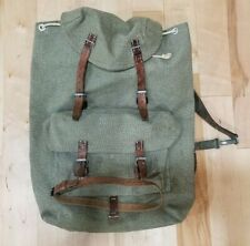 SWISS ARMY BACKPACK RUCKSACK 1956 GREEN MILITARY ISSUE AUTHENTIC PREOWNED