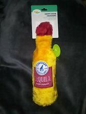 *NEW* Zippypaws Happy Hour Crusherz Tequila  Squeaky Plush Dog Toy