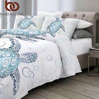 3Pcs Ocean Sea Turtle Twin Bedding Duvet Cover Comforter Cover Set Kids Gift