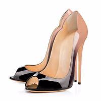 Womens Stilettos High Heel Peep Toe Pumps Heels Party Shoes UK Plus Size 1-8