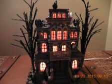 HAWTHORNE VILLAGE Halloween MUNSTERS Grandpas TOUCH OF TRANSYLVANIA HOTEL 100%