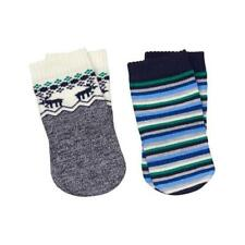 NWT!  GYMBOREE MOOSE AND STRIPE BOYS SOCKS - SIZE 12-24 MOS (SHOE SIZE 04-06)
