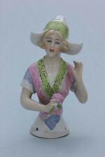 Junge Frau mit Haube, Teepuppe half Doll , Porzellan, um 1900
