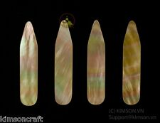 Collar Stay - Genuine Gold Mother Of Pearl - Size 70 x 10 x 1.5 mm ( 6 pcs )