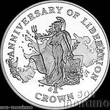 2007 Falkland Islands BRITANNIA 25th Anniversary of Liberation CuNi Crown Coin